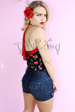 SOOKIE CHERRY PINUP HALTER TOP