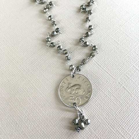 Lucky Rabbit Necklace-rabbit coin