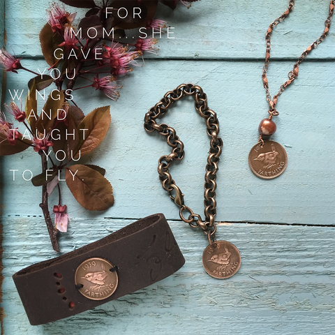 Bird Coin jewelry - Mother's jewelry
