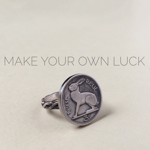 Irish Coin Ring - Rabbit Ring