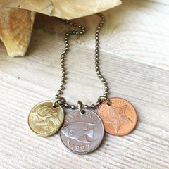 Sea Life Necklace - coin jewelry