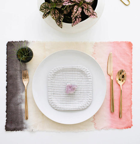 DIY dip-dyed place mats