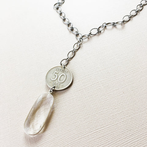 swedish coin necklace