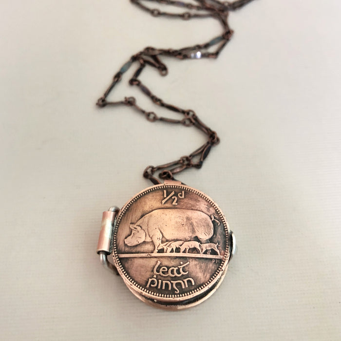 Coin Locket Necklace