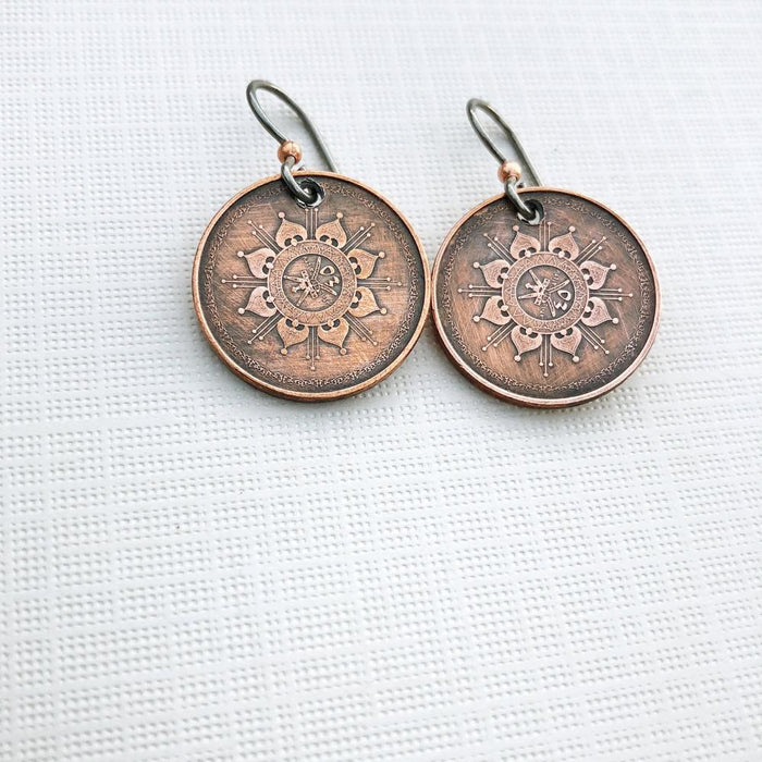 oman coin earrings