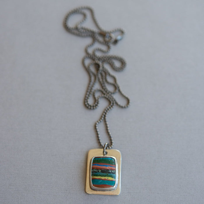 Rainbow Tag Necklace