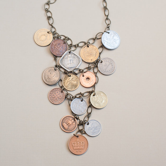 Handmade Coin Jewelry - Beautifully Bold Necklace