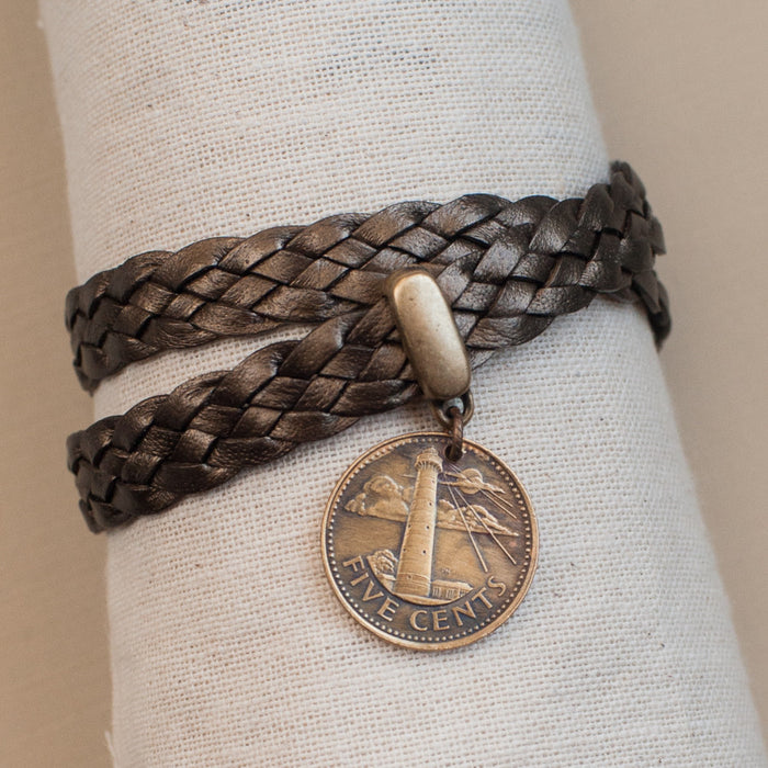 Handmade Coin Jewelry - Lighthouse Bracelet