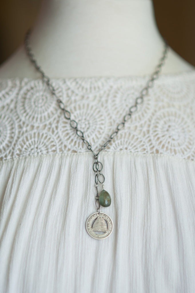 Salt Lake City Trolley Token Necklace