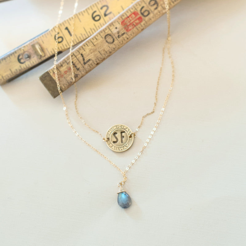 San Francisco Cable Car Token Necklace