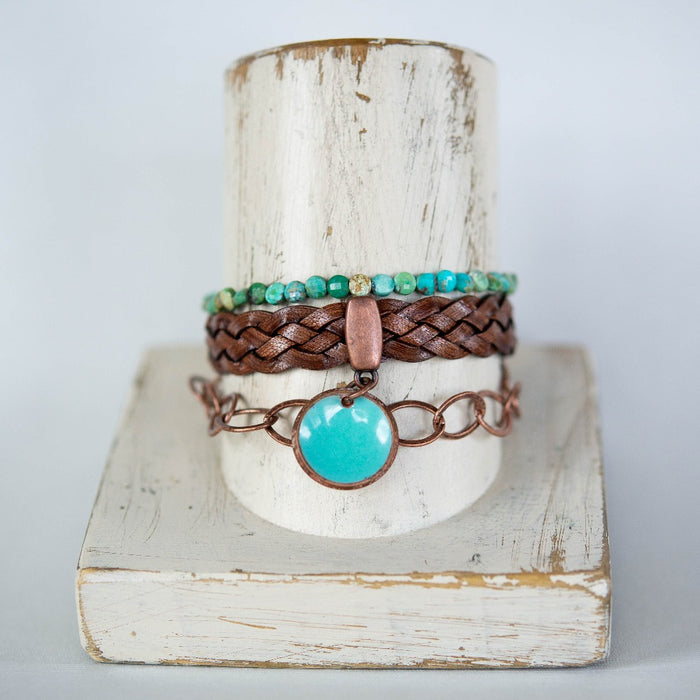 Warm Copper Summer Stack Bracelets