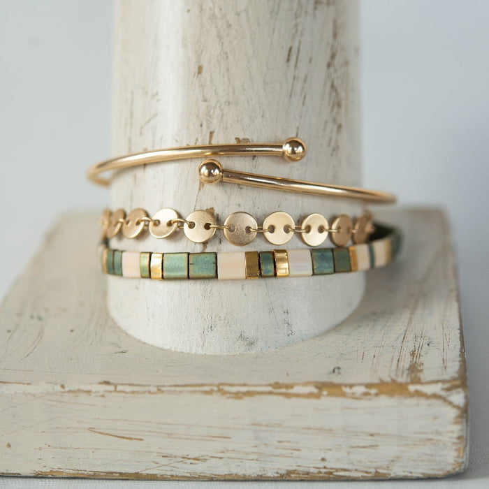 Golden Glow Summer Stack Bracelets