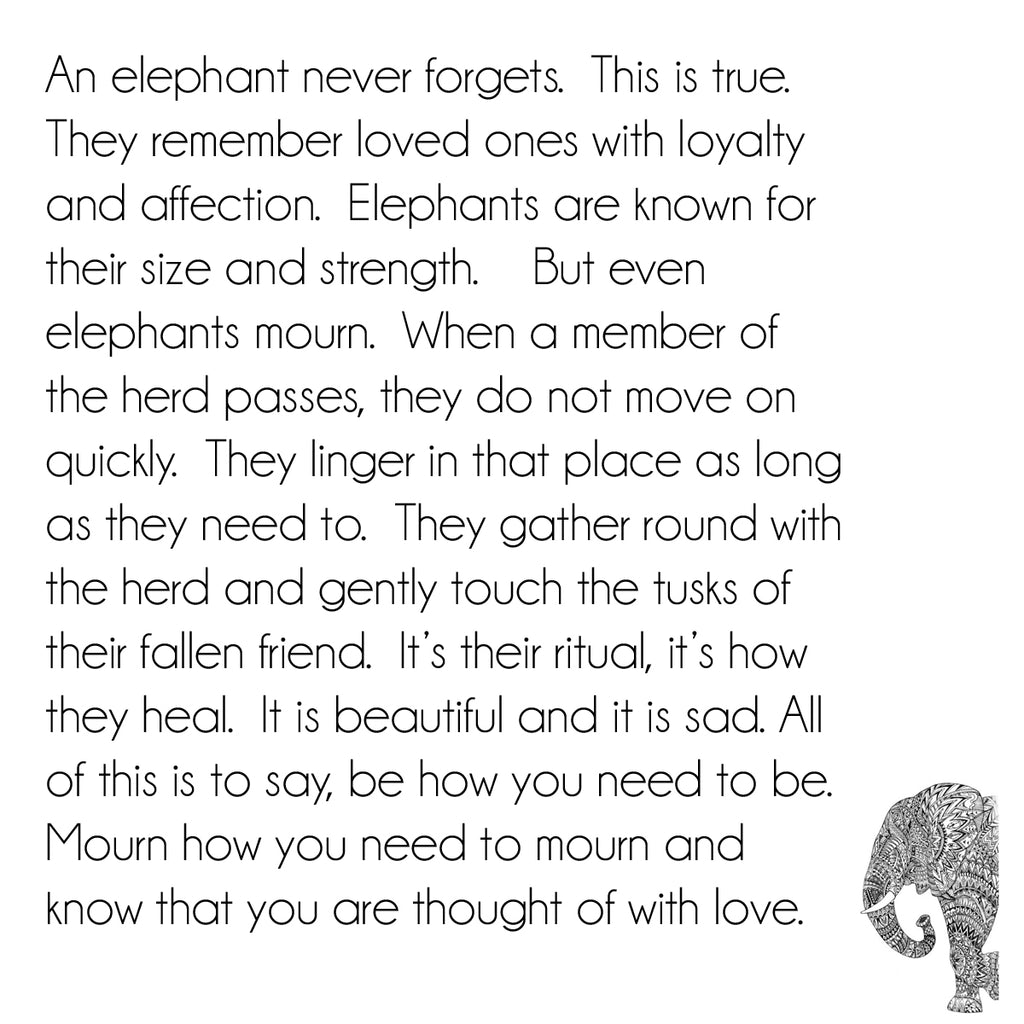 Elephant  Necklace (for loss)
