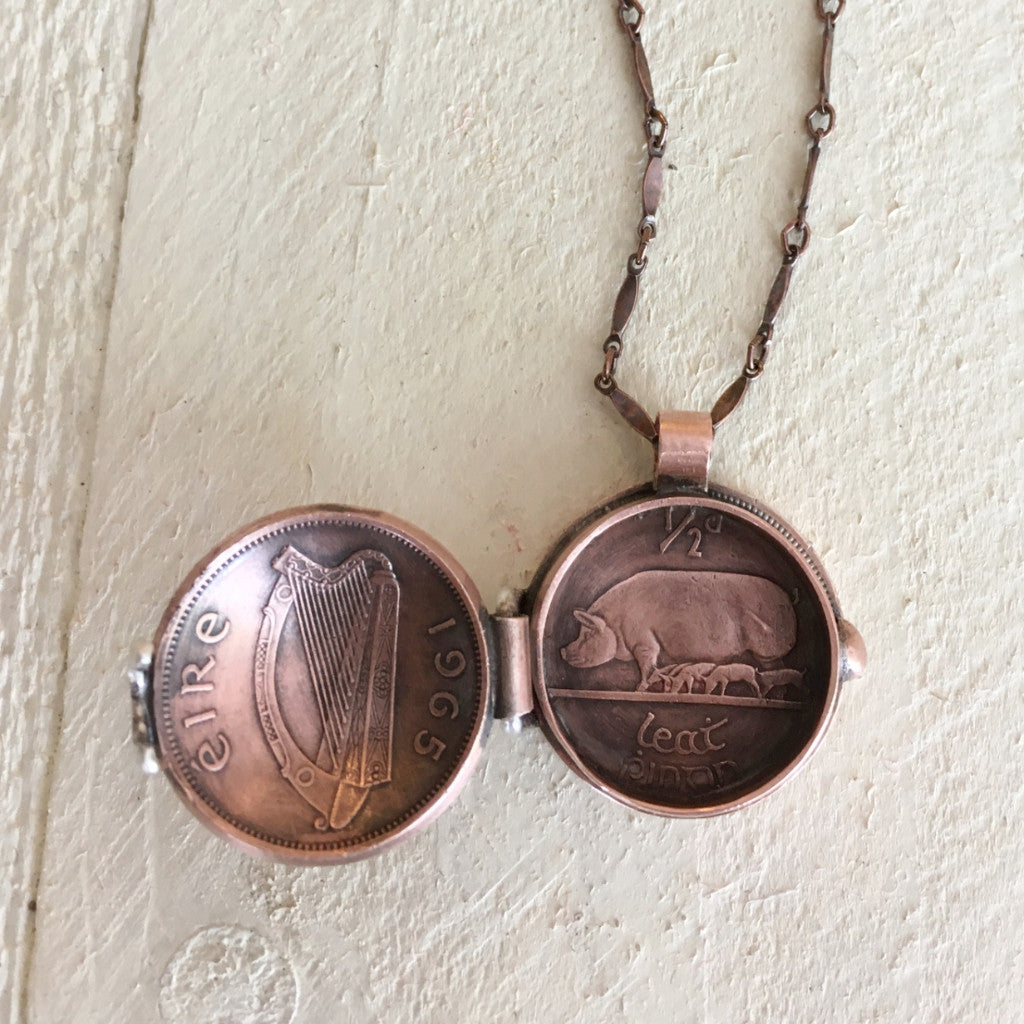 Coin Jewelry - Coin Locket Necklace