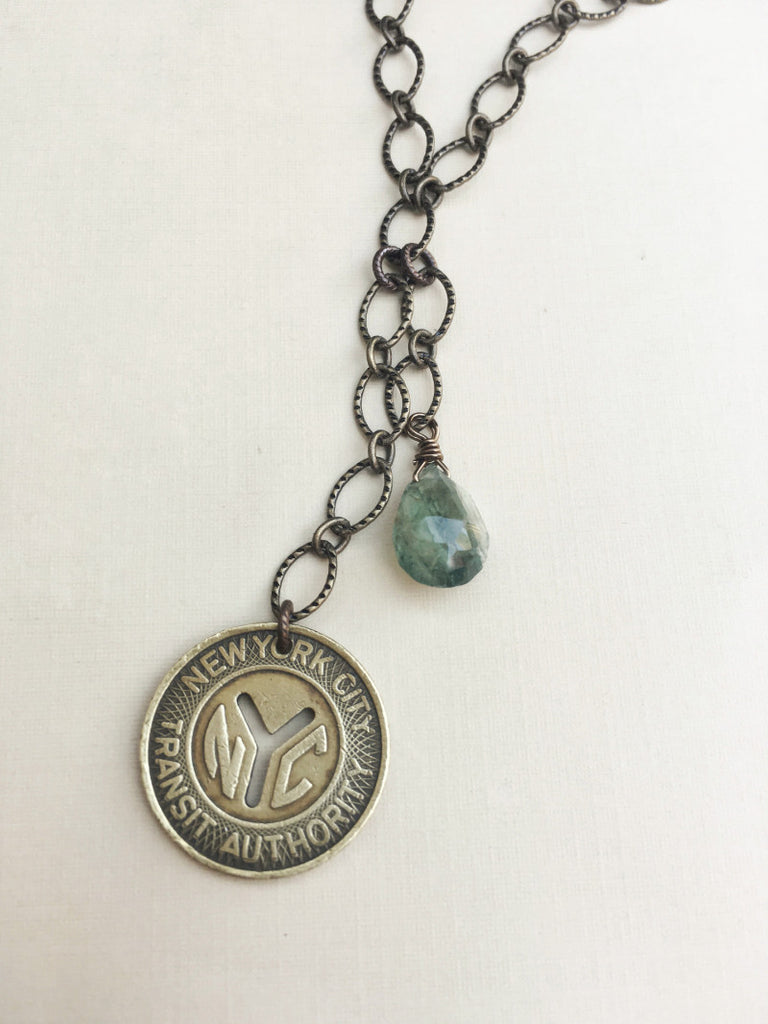 New York Subway Token Necklace