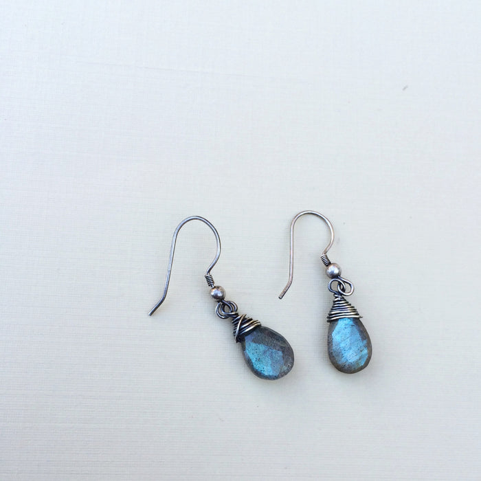 mermaid earrings - labradorite silver earrings
