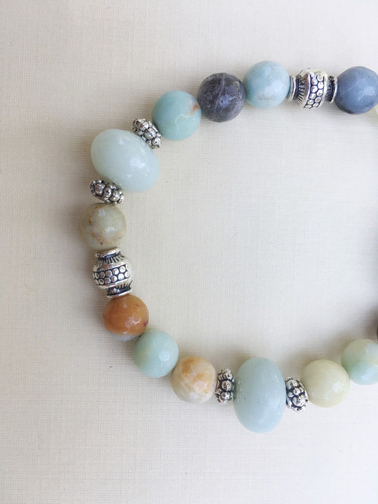 Amazonite Mantra Bracelet (for loss)