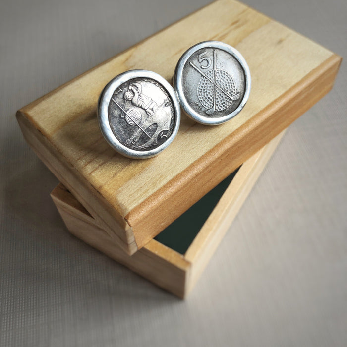 golf coin cufflinks