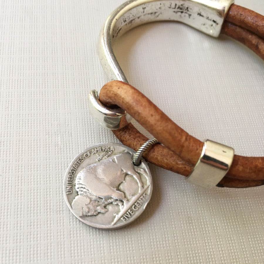 Buffalo Nickel cuff bracelet