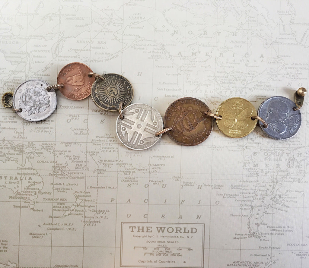 mixed coin bracelet