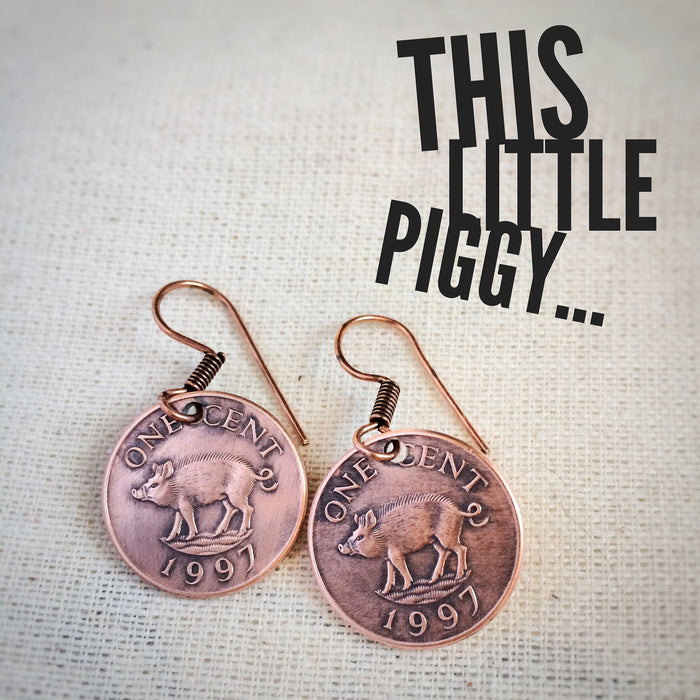 Two Little Pigs Earrings