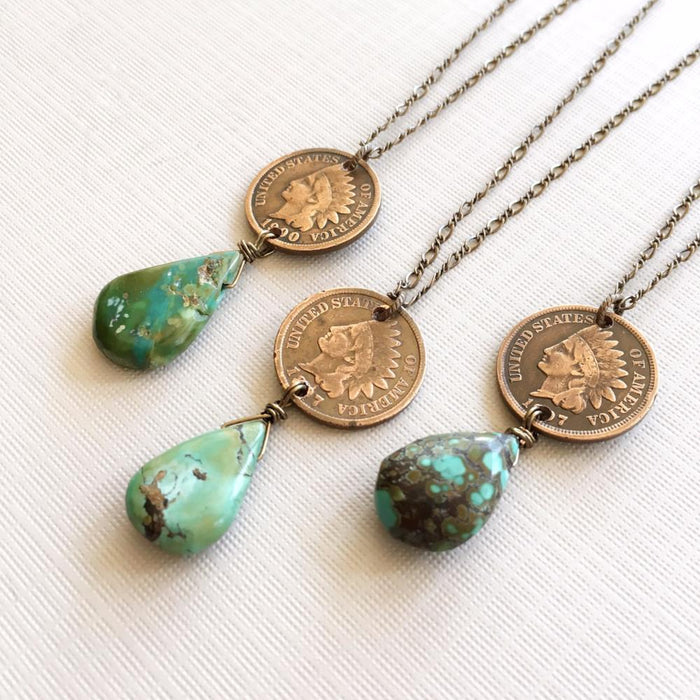 Indian cent necklace