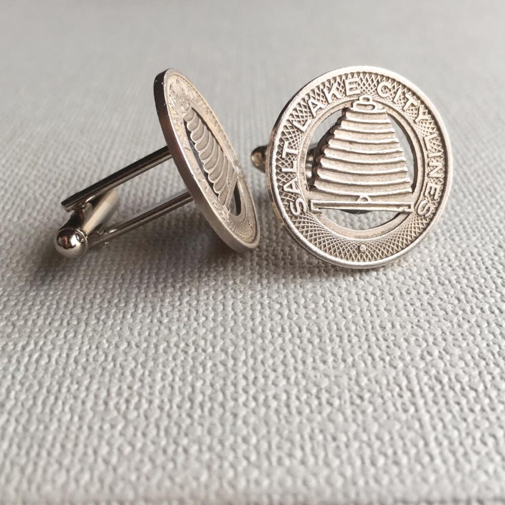 Salt Lake Trolley Token Cufflinks