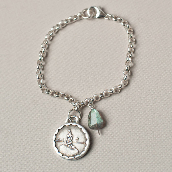 denmark mermaid transportation token bracelet
