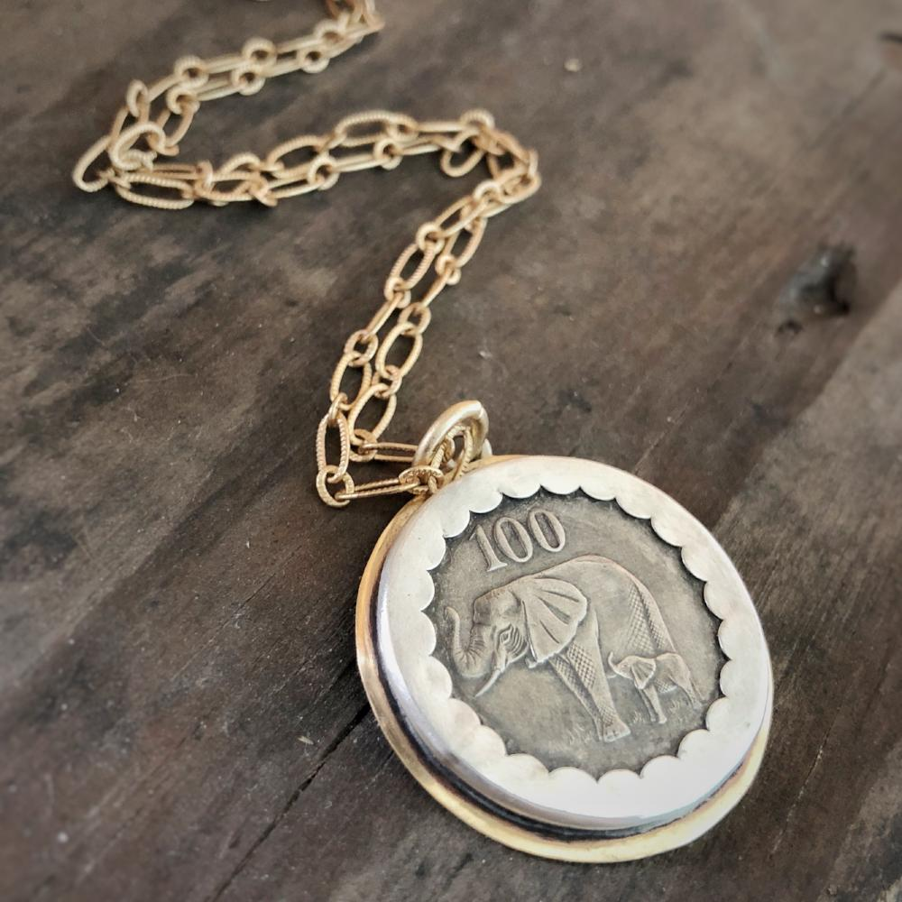 elephant coin/mama necklace