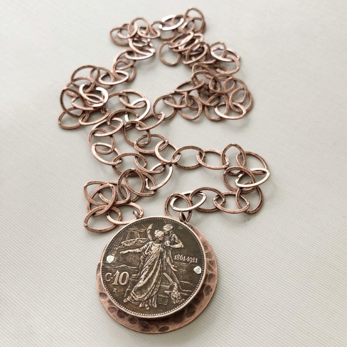 Italian Coin Necklace