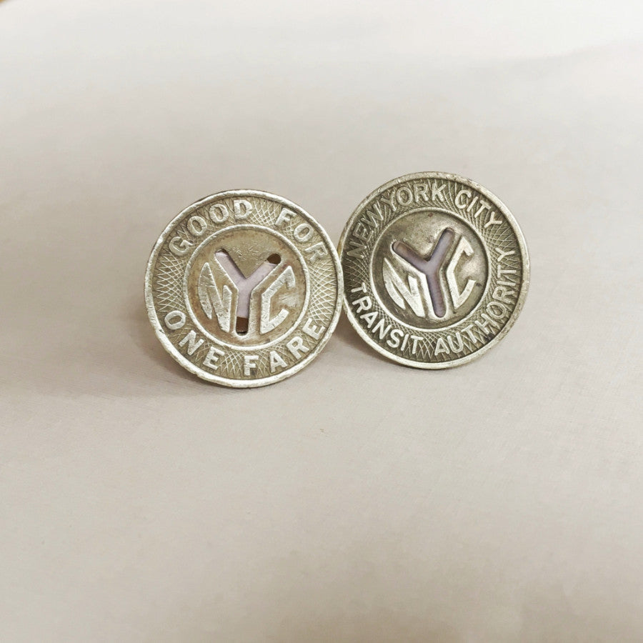 New York Subway Token cufflinks