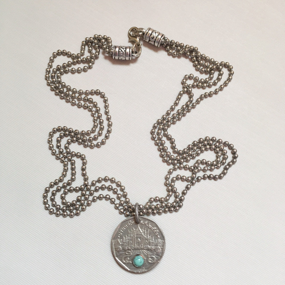 Thai Temple Coin necklace