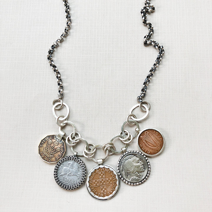 family history coin necklace