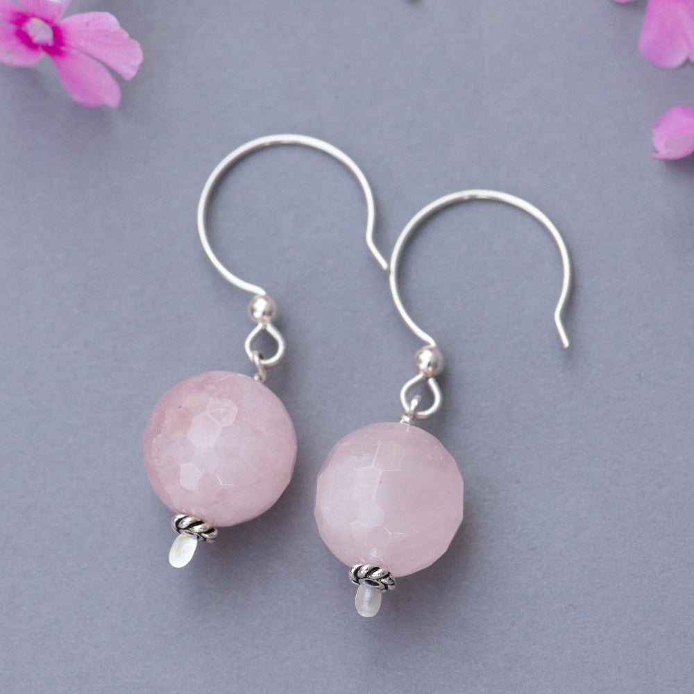 Rose Quartz Party Earrings