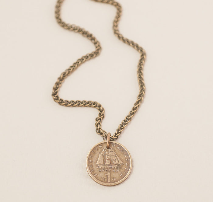 Vintage Coin Jewelry - Captain of my Soul Necklace
