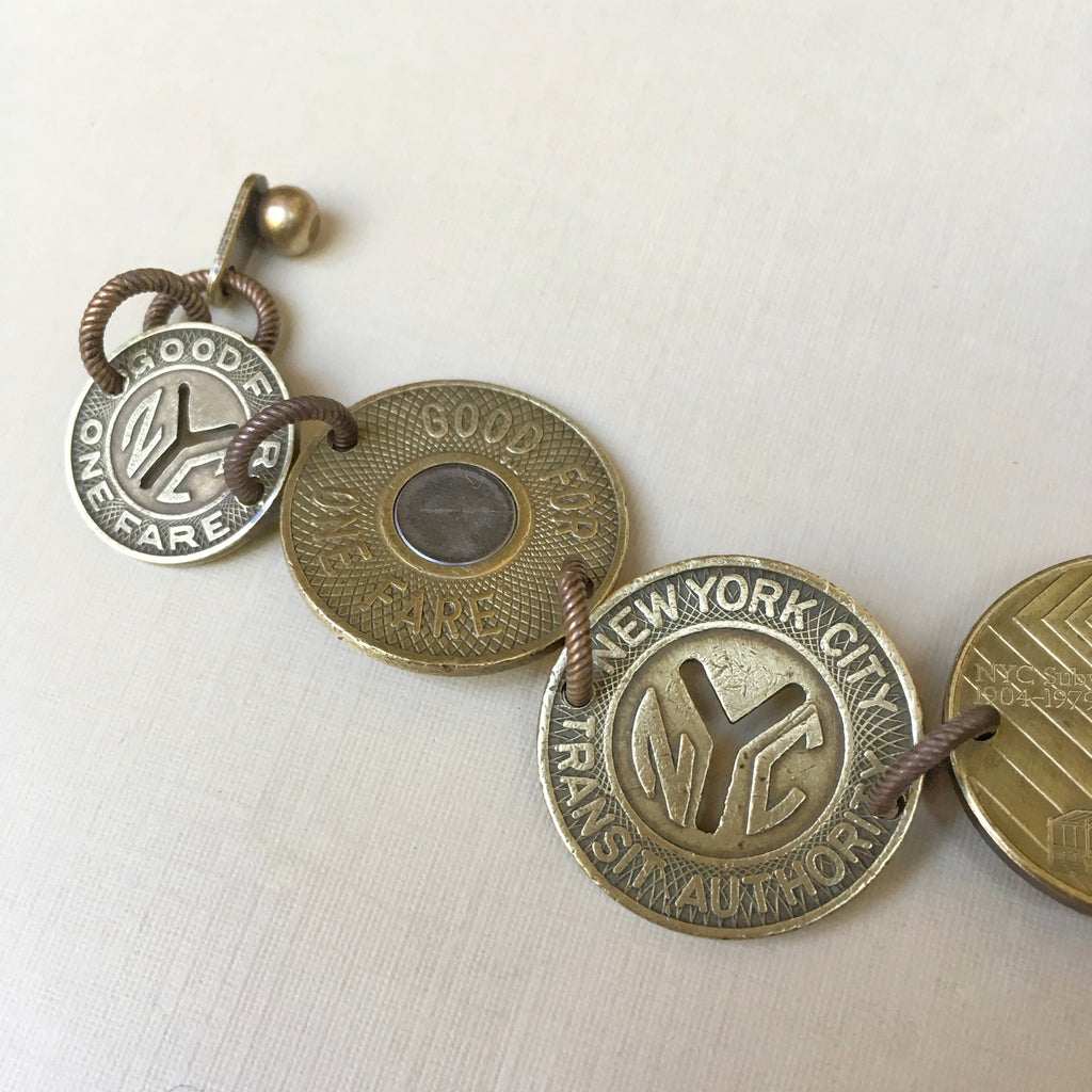 New York Subway Token Bracelet
