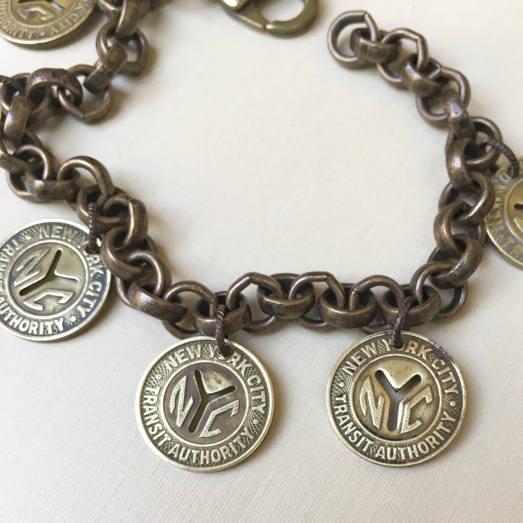 New York Subway Token Charm Bracelet