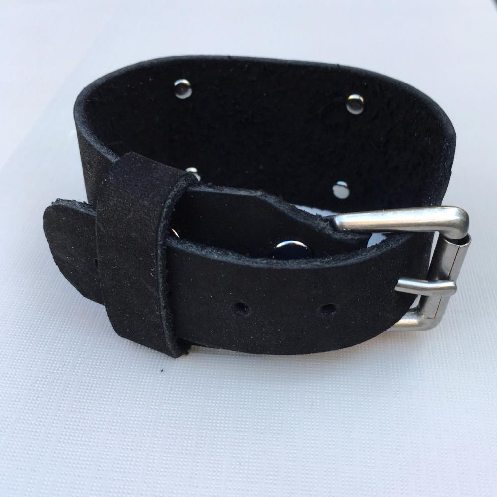 Marcus Aurelius coin leather cuff bracelet