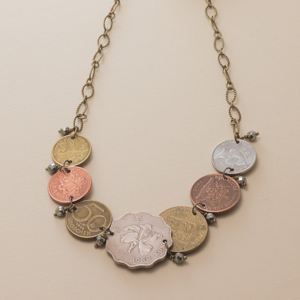 Traveling Coins Necklace
