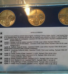 Apollo series emblems 7-17 mint. Book mars rover metal autograph