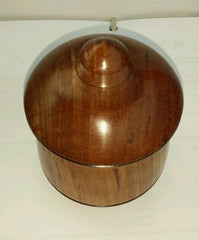 Exotic wood  keepsake Cremation Urn for human or pet hand made