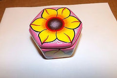 Keepsake urn from mexico 10 cubic hand made Daisey