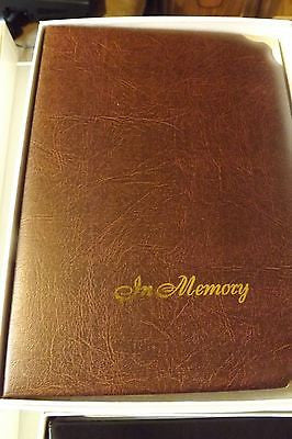 Funeral Register Book Memorial Register In Memory leather value priced