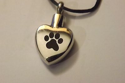 Cremation Urn Jewelry pet paw stainless