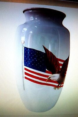 Adult cremation urn 210 cubic inch the patriot
