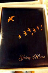 Funeral Register Book Memorial Register Book Going Home Blue Cover
