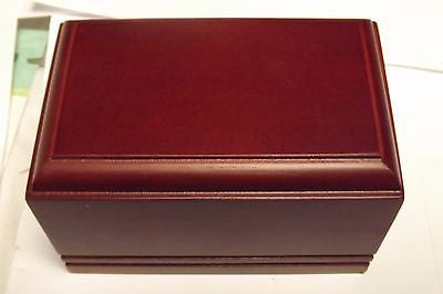 "Mini Colonial"" Urn in Dark Cherry Finish - Made in U.S.A."