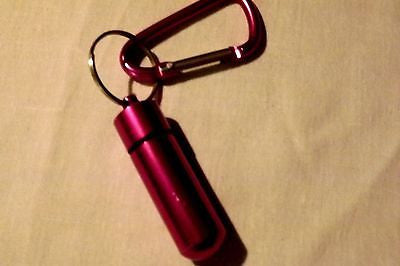 Cremation Urn key chain silver,green,red,gold,purple with seal