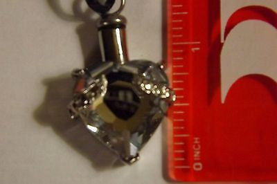 Cremation Urn Jewelry memorial heart crystal  keepsake personal memorial