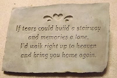 IF TEARS COULD BUILD A STAIRWAY HEAD Stone Garden Stone Memorial Stone